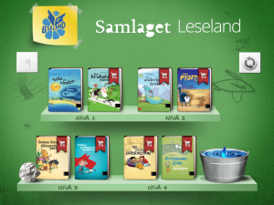 Leseland, an app from Samlaget helps children learn reading