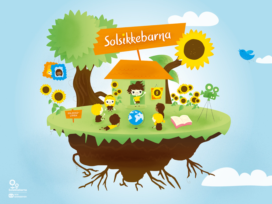 Solsikkeappen splash screen